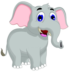funny elephant cartoon posing vector image vector image