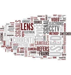 Glossary of terms d l cctv text background word vector
