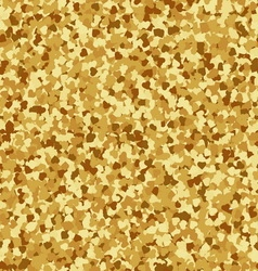 Golden hearts seamless pattern vector