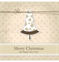 Grunge vintage Christmas background vector image vector image