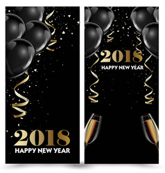 happy new year 2018 greeting card or banner vector image