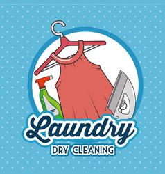 laundry logo emblem badge vector image vector image