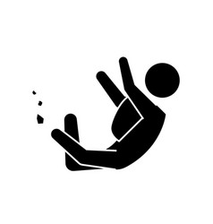 Pictogram man jumping up concept vector