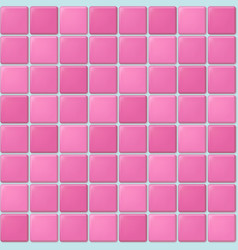 Pink tile pattern vector