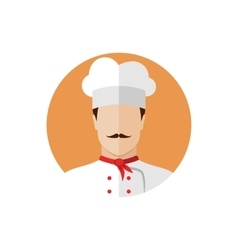 Professional chef icon vector