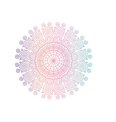 Red and blue color gradient brilliant flower vector