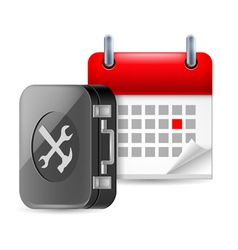 Repair and time icon vector