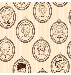 Seamless texture frame with kids vector