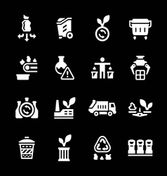 Set icons of recycling vector image vector image