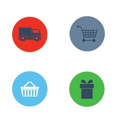 Shop buttons purchase icons set vector image vector image