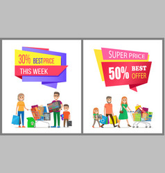 Special price offer discount week best cost sale vector