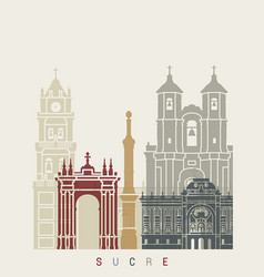 sucre skyline poster vector image vector image