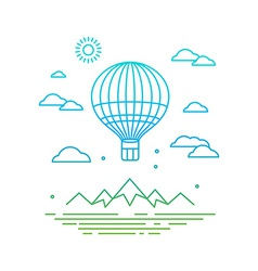 travel concept in linear style vector image vector image