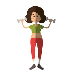 women fitness cartoon vector image