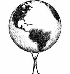 world in my hands vector image vector image