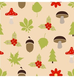 Autumn forest pattern vector image