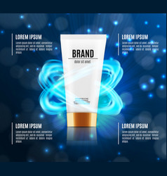 Cosmetic ads template vector