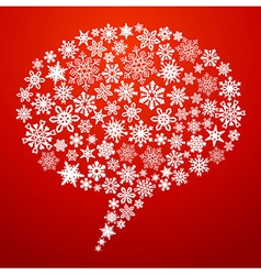 Christmas social media speech bubble vector