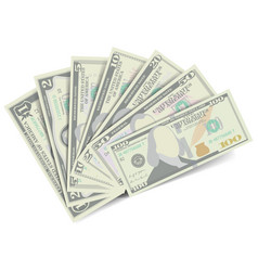 dollars banknote stack american money bill vector image
