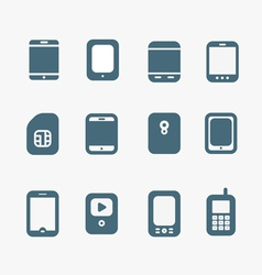 Abstract style modern and vintage mobile gadgets vector