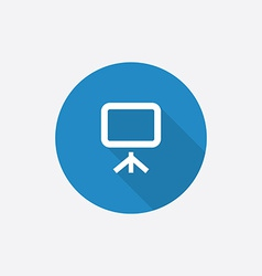 board Flat Blue Simple Icon with long shadow vector image