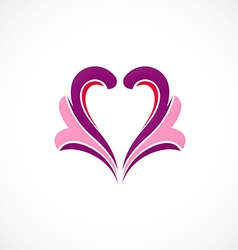 Love ornament heart design element vector