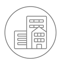 Residential buildings line icon vector