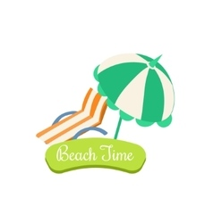 Beach time summer vacation vector