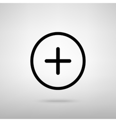 Positive symbol plus sign vector