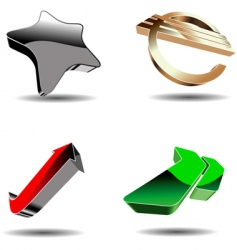 abstract 3d symbols vector image