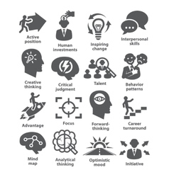 Business management icons Pack 19 vector image