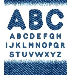 Jeans alphabet letters set vector image