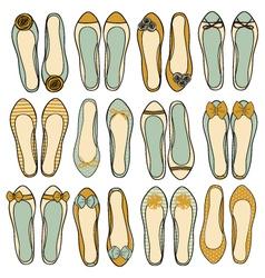 ballerina shoes collection vector image