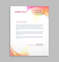 abstract soft color shapes letterhead template vector image vector image