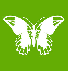 Admiral butterfly icon green vector