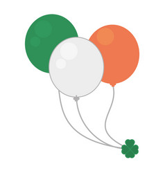 Balloons flag irish st patricks day vector