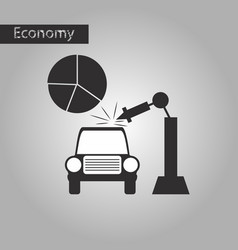 Black and white style icon automotive industry vector