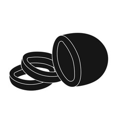 black oliveolives single icon in black style vector image vector image