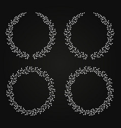 black wreath set with leaves vector image vector image