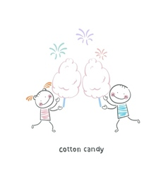 candy-floss vector image vector image