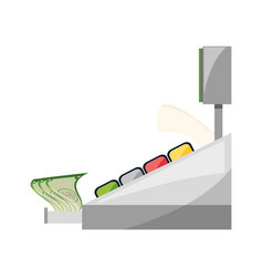 Cash register machine vector