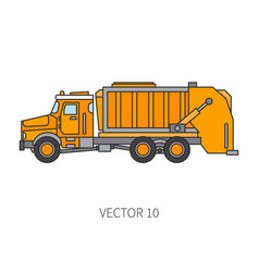 Color flat icon construction machinery vector