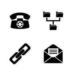 communicate simple related icons vector image vector image