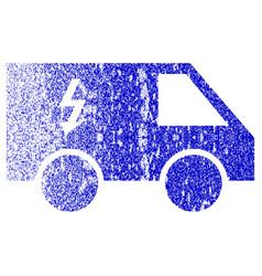 Electrical car textured icon vector