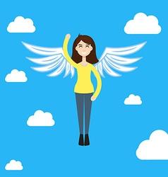 Feel Freedom character woman vector image vector image