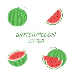 flat watermelon icons set vector image vector image