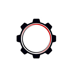 Gear template logo vector