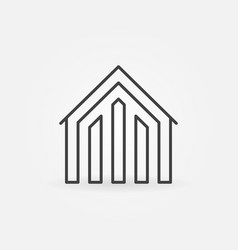 House linear icon vector