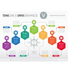 Infographic with design elements presentation of vector image