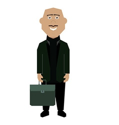 Isolated Businessman vector image vector image